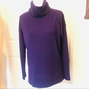 Antonio Melani Cashmere Cowl Neck Sweater Purple